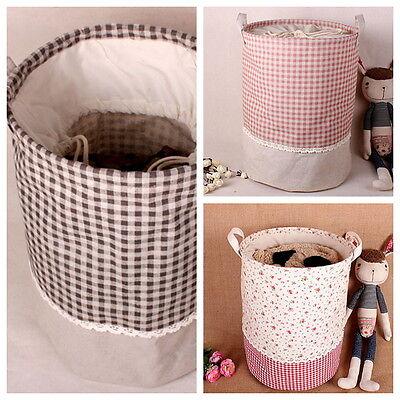 Storage Bucket Zakka Friendy Recycle Dustproof Cotton Linen 3 Pattern SNYT007
