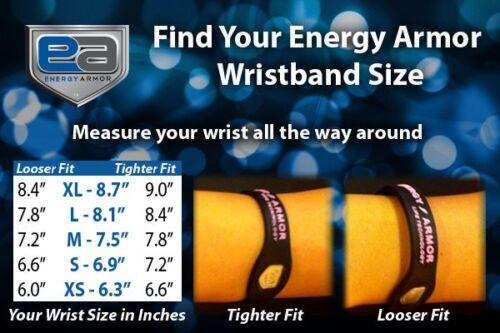 Energy Armor superband d/'ions négatifs bracelet bracelet noir avec lettres rose