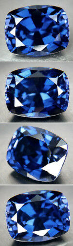 SOMPTUEUX SAPHIR VERNEUIL CORNFLOWER BLUE 8x10mm .IF..4,30 cts environ