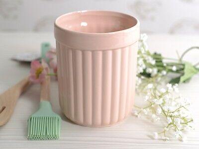KATIE ALICE Cottage Flower PINK Ceramic UTENSILS STORAGE JAR - Pot Holder