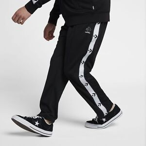 85afabbbbf23 Converse Star Chevron Track Pants Men s New Black White Trousers ...