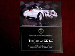 DANBURY MINT 1949 JAGUAR XK120 CONVERTIBLE 1:24 SCALE