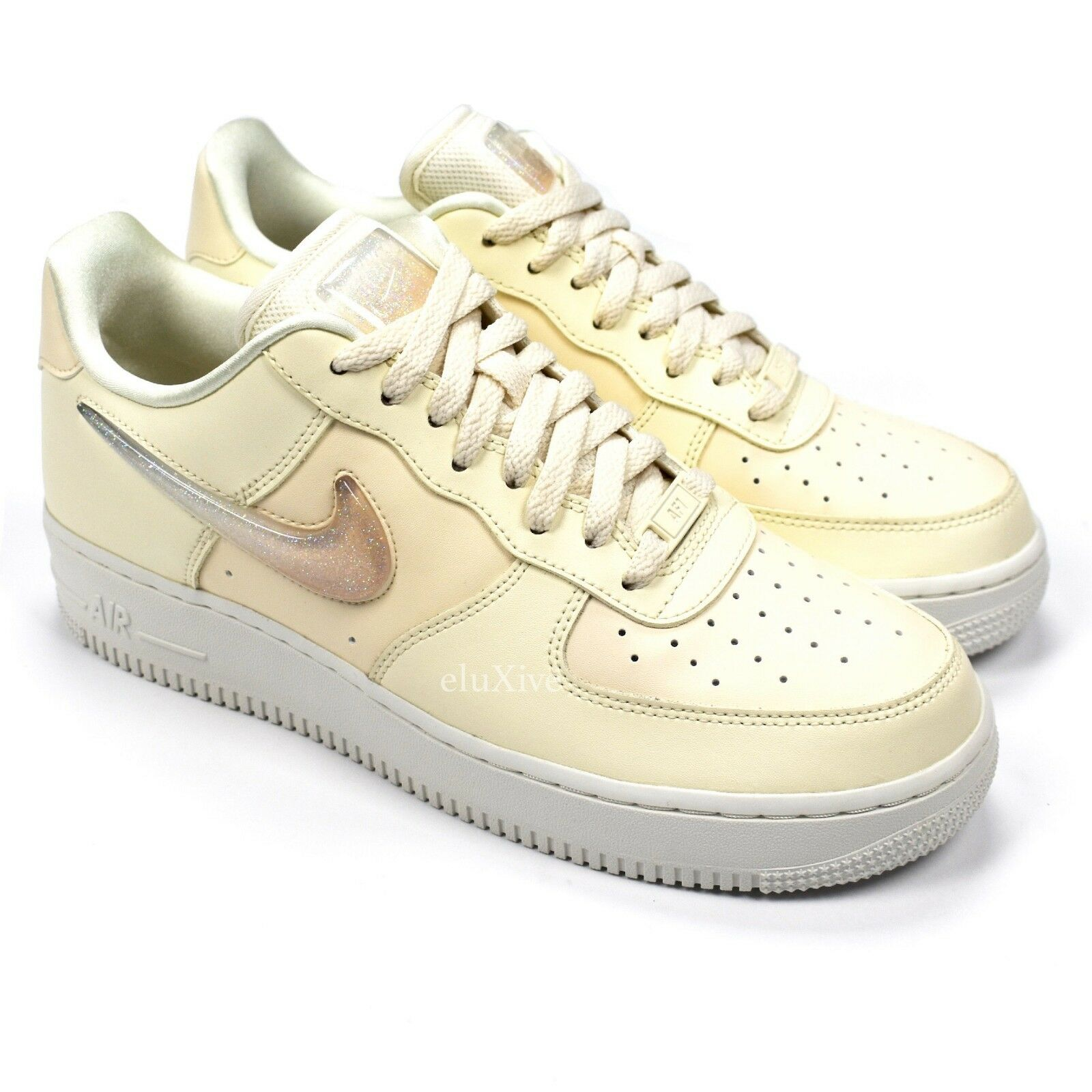 NWT Nike Air Force 1 07 SE PRM Jelly Jewel Swoosh Ivory White Sneakers AUTHENTIC