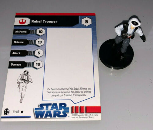 Star Wars Miniatures Imperial Entanglements REBEL TROOPER #8