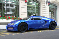 Poster Of Bugatti Veyron Hd Blue Super Car Print Multiple Sizes Available