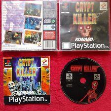 CRYPT KILLER KONAMI  ORIGINAL BLACK LABEL SONY PLAYSTATION SONY  PS1 PS2