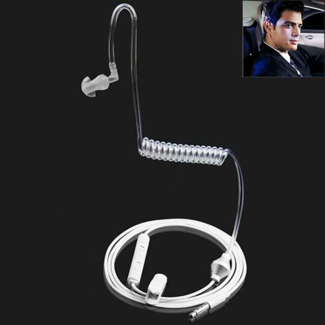 bb84e503f44 3.5mm In Ear Anti-radiation Earphone Air Tube Stereo Headset Monaural  Headphones