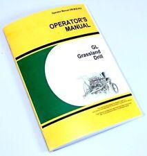Operators Manual For John Deere Gl Grassland Drill Owners Seed Grass Rates Chart