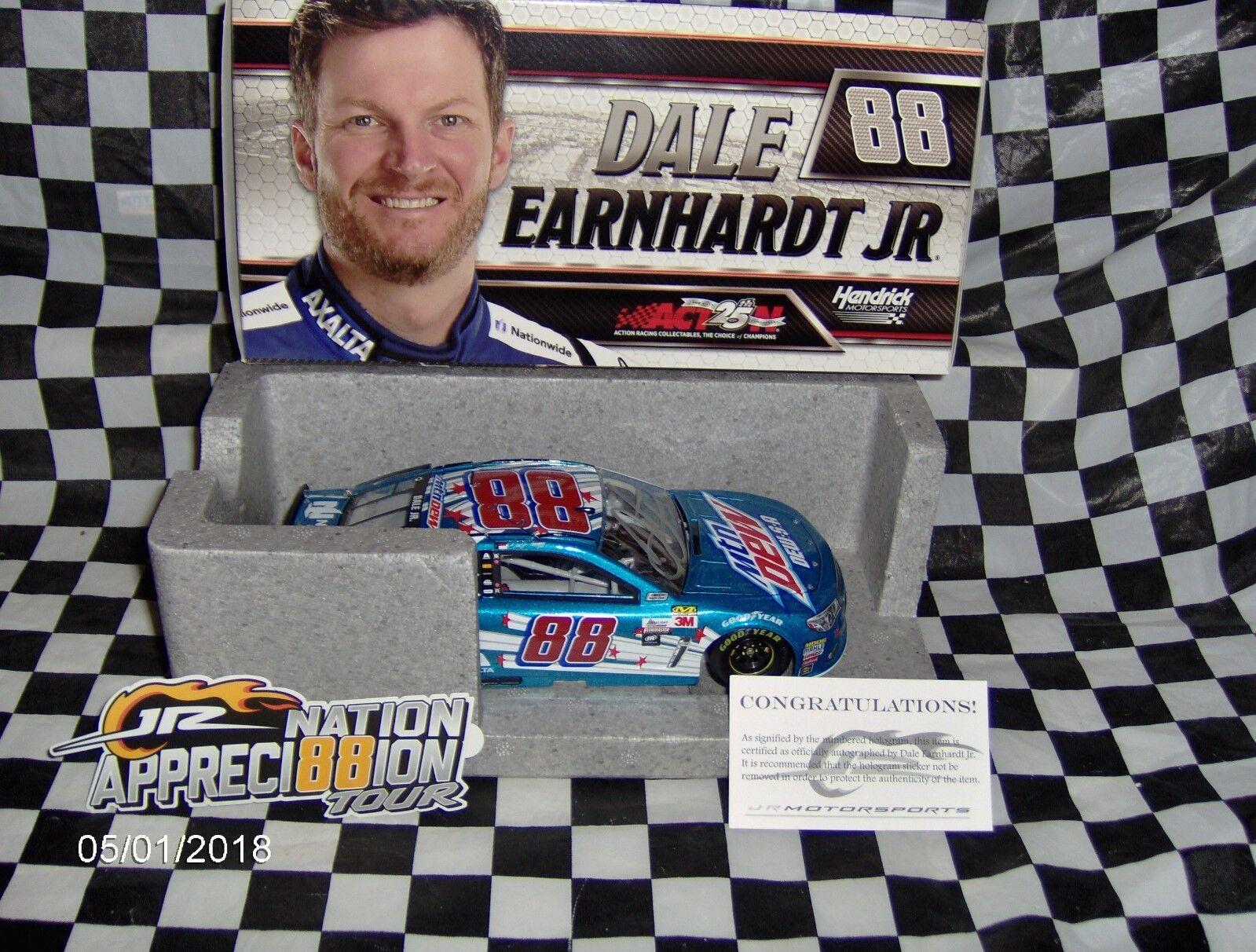 liquidación hasta el 70% 2017 Dale Dale Dale Earnhardt Jr   88 Mountain Dew-S-A C.o.a Autografiada 1 24th  echa un vistazo a los más baratos