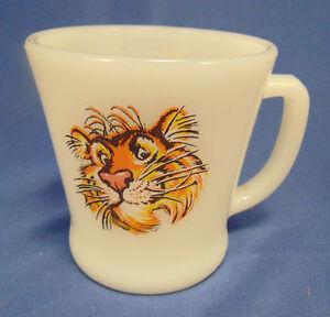 Coffee mug tea cup Exxon Esso Tiger logo diner milk glass ...