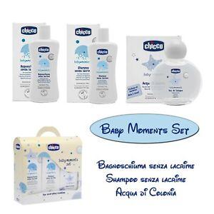 Chicco Set Baby Moments Bagnoschiuma Shampoo Senza Lacrime Acqua Di Colonia Ebay