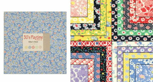 "30s Playtime 5/"" CHARM PACK Quilt Squares Moda Fabric //// Quilt Blocks"