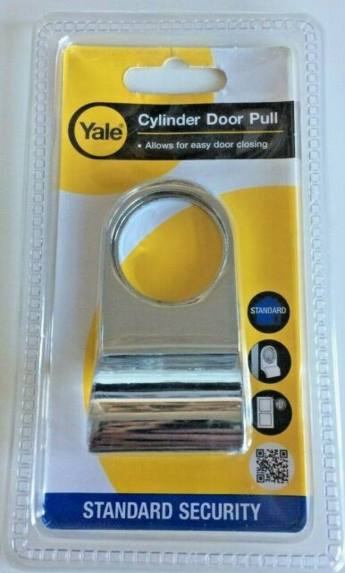 Yale P110 Cylinder Door Pull  Chrome or Brass Finish