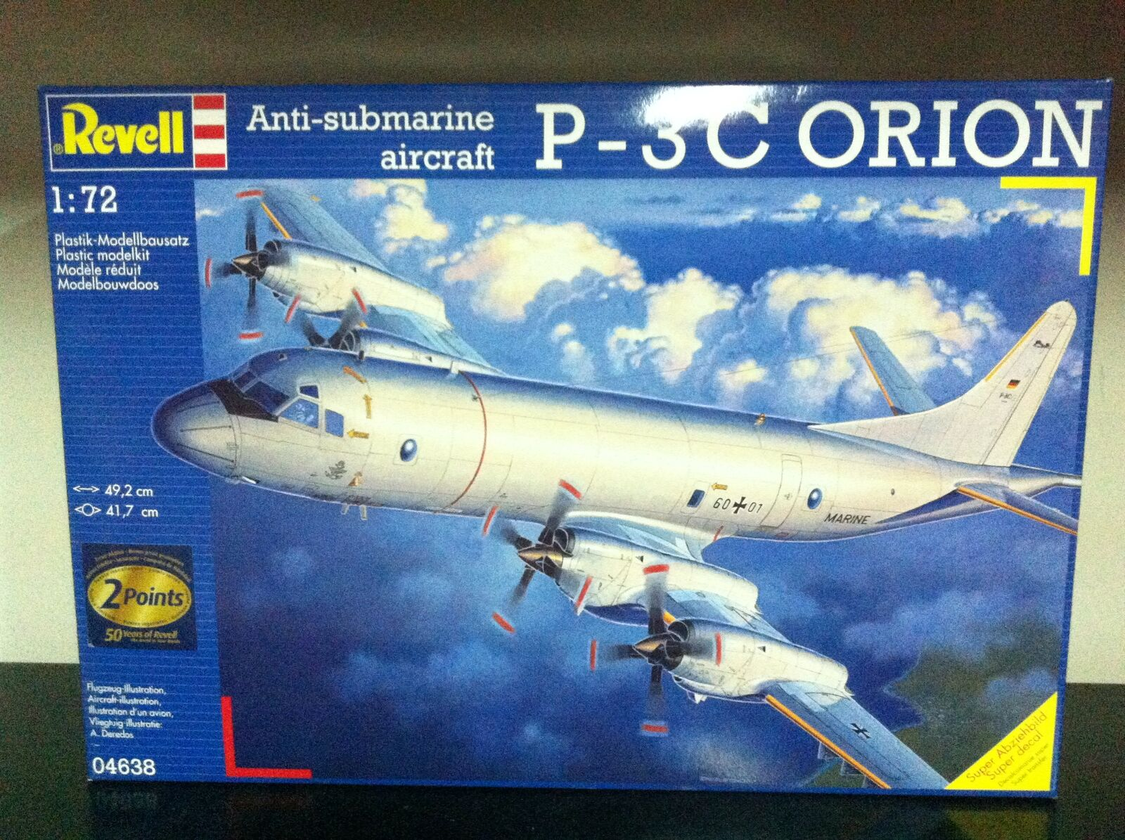 Revell Kit di Montaggio 1 72 4638 Anti-Submarine Aircraft P-3 C ORION MIB, 2006