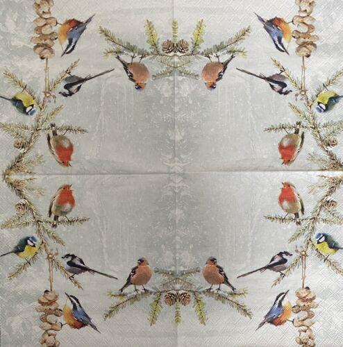 Bird Design Serviettes en papier découpage