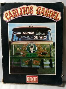Carlitos Carlos Gardel, Rare, Tango, DETACHED COVER Worn Book in Spanish 1977