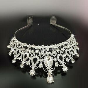 Bridal-Wedding-Princess-Rhinestone-Crystal-Tiara-Hair-Band-Prom-Crown-Headband