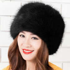Fashion Ladies Womens Glamorous Faux Fur Russian Cossack Hat Winter Warm Cap b2e3752701ea