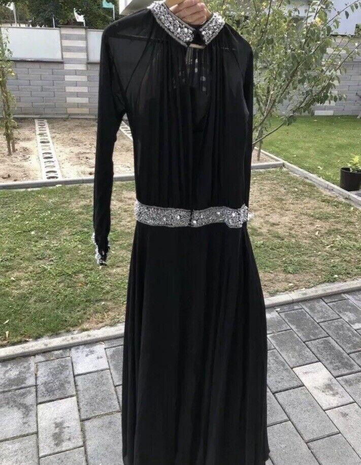 Abendkleid Weiß Lady Damen 40 schwarz