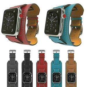 Genuine-Leather-Cuff-Strap-Apple-Watch-Band-40mm-44mm-iwatch-Series-5-for-Apple