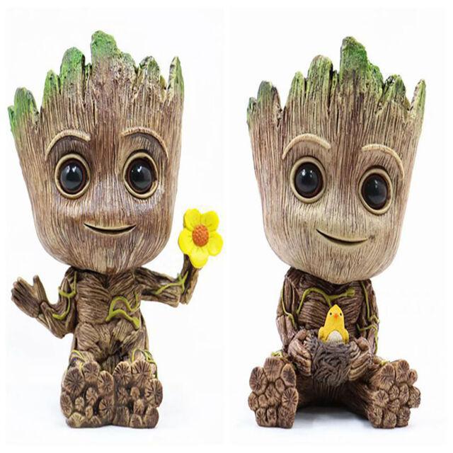 2 Baby Groot Figuur Statue Blumentopf Geschenk 16cm Guardians of the Galaxy Vol
