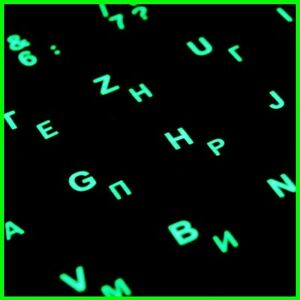 Details about RUSSIAN KEYBOARD STICKERS with GLOWING Effect