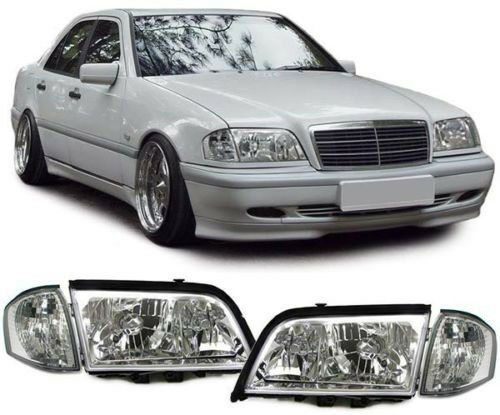 CRYSTAL HEADLIGHTS HEADLAMPS /& TURN SIGNALS FOR MERCEDES C CLASS W202 NICE GIFT
