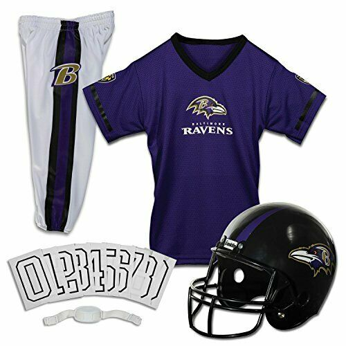 Franklin Sports Deluxe NFL-Style Youth Uniform - Kids Helmet, Jersey, Pants