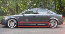 AUDI A4 B6 B7 S4 LOOK SIDE BLADES / DOOR BLADES / DOOR BAR NEW S-LINE 4 PCS