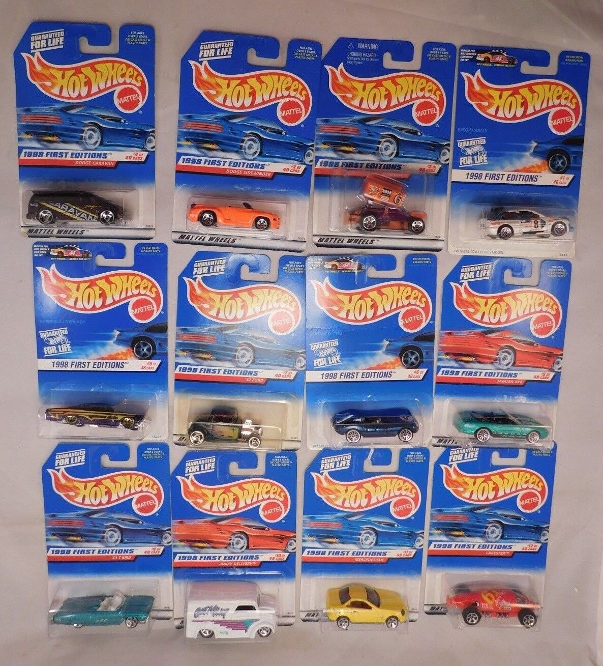 Lot of 42 Hot Wheels 1998 First Editions Series COMPLETE plus 2 variations  MIP