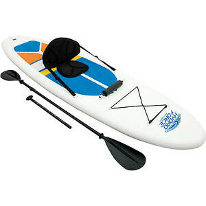 Stand-up-Paddle-Board-and-Kayak-all-in-1-Bestway-HydroWave-10-039-4-034-White-Cap