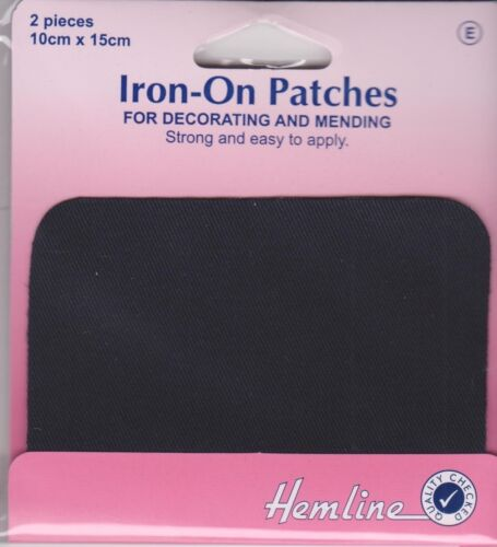 Navy Cotton Twill Iron On Patches