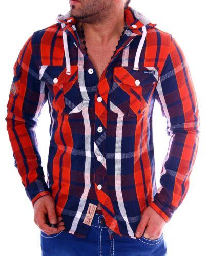 Herren Hemd Hemden Herren Langarmhemd Slim-Fit Karo Kariert dick S M L XL NEU
