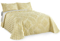 Trellis Damask Chenille Bedspread, By Collections Etc