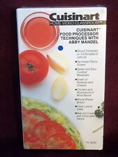 Cuisinart© Food Processor Techniques with Abby Mandel VHS VIDEO WITH RECIPES NEW