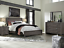 thumbnail 1 - NEW Gray 4PC Queen King Bedroom Set Modern Rustic Brown Furniture Bed/D/M/N