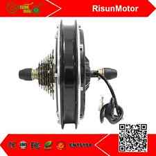 RisunMotor 36/48V 1000W eBike Threaded Rear Wheel Brushless Gearless Hub Motor