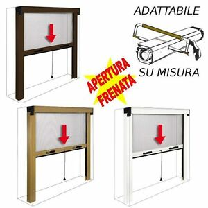 Zanzariera a rullo avvolgibile verticale per finestra for Finestra scorrevole verticale