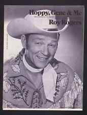 Hoppy Gene and Me 1974 Roy Rogers Sheet Music