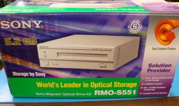 Boxed Sony Rmo-s551 Ext. 5.2 Gb Drive With Software And Qty 1 Edm-4100c Rw Media Zorgvuldig Geselecteerde Materialen