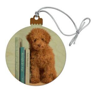 Poodle Puppy Dog Book Shelf Wood Christmas Tree Holiday ...