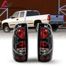 For Silverado Sierra 99-06 Gloss Black Clear Altezza Tail Lights Set Replacement