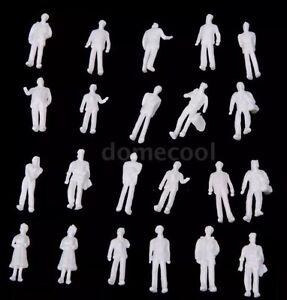 Lot-Of-100-Model-Train-People-Figures-1-100-Scale-HO-White-US-Seller
