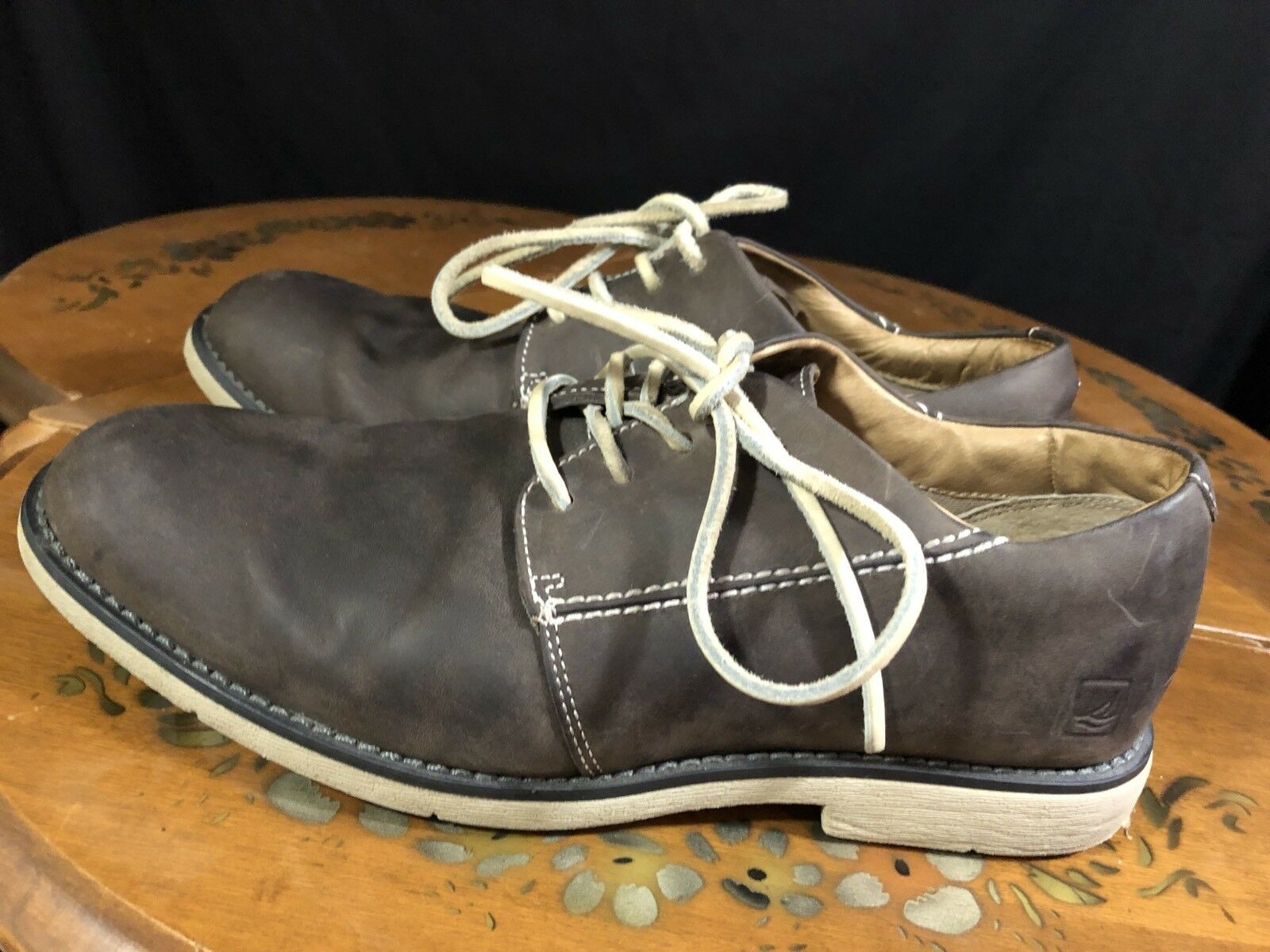 SPERRY TOP-SIDER  Mens shoes Leather Lace Up Loafers Brown Size 7.5 US 0814905