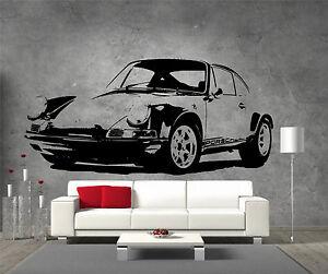Porsche-carrera-vinyle-sticker-mural-art-garcons-chambre-garage-salle-de-jeux