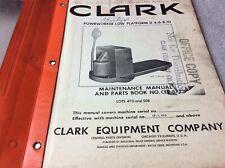 Clark Powrworker Low Platform D 4 6 8 Pallet Jack Maintenance Parts Book Manual