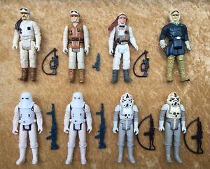 Vintage-Star-Wars-1980-Hoth-Figure-Lot-ESB-Han-Solo-w-Original-Weapons-No-Repro