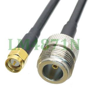 Kabel-N-Buchse-zu-SMA-male-plug-Straight-Crimp-ksr195-8-034-Zopf
