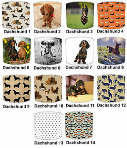 Dachshund dog designs print table lamp shades or ceiling light image is loading dachshund dog designs print table lamp shades or aloadofball Gallery