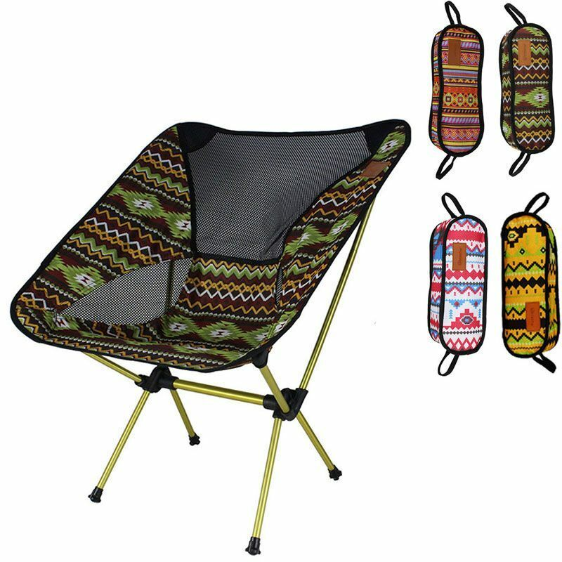 Ultralight Moon Chair Portable Seat Fishing Camping Removable Folding Furniture